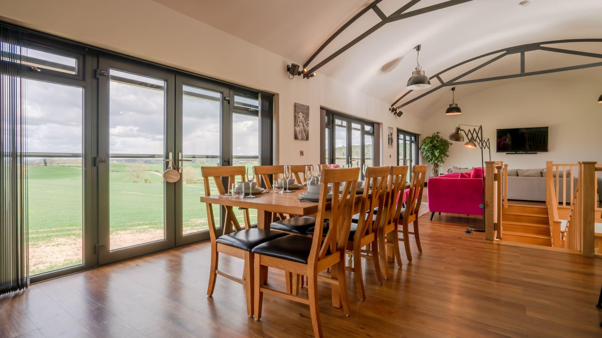Dining area, Lower Lodge Barn, Bolthole Retreats