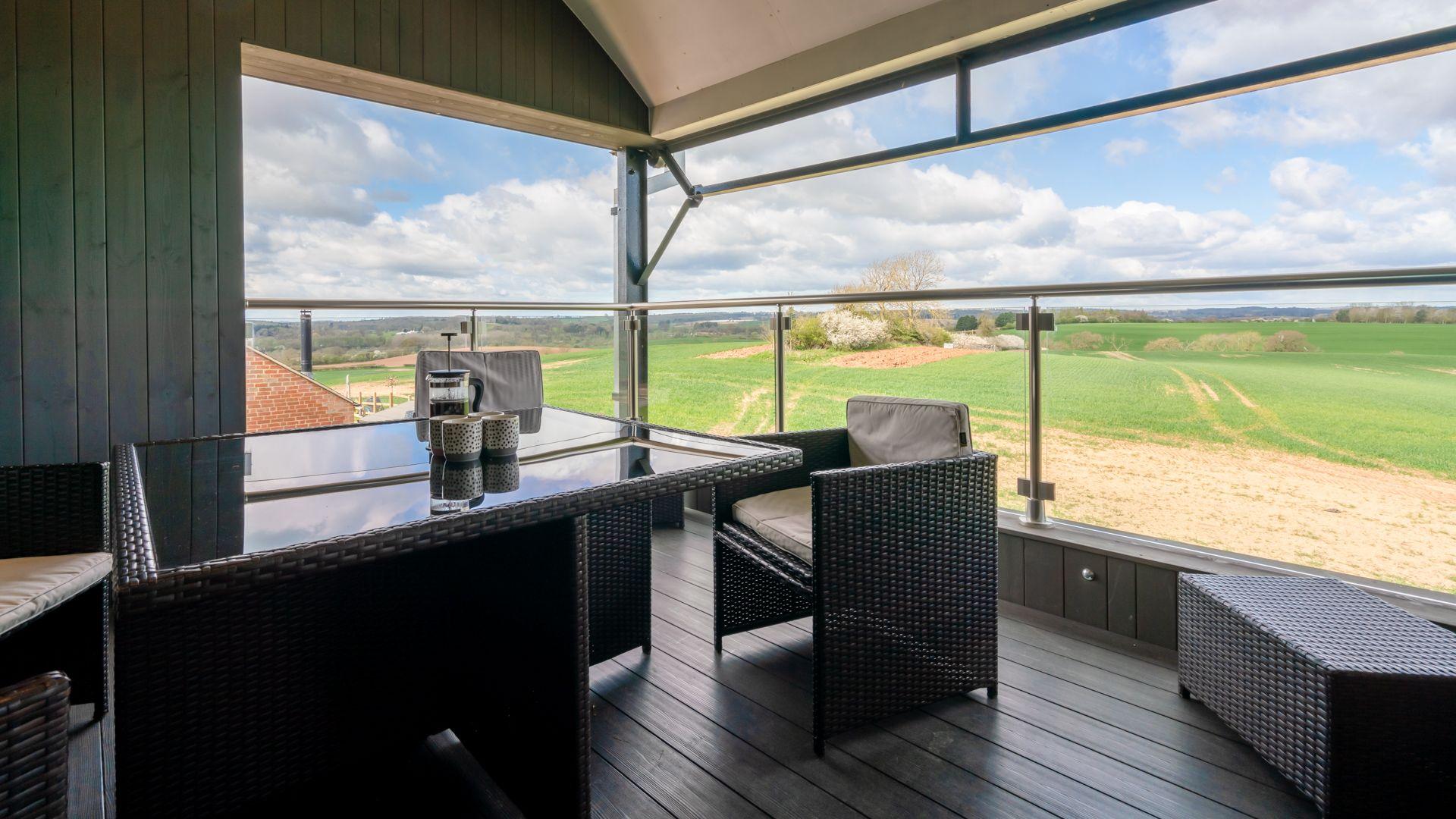 First floor terrace, Lower Lodge Barn, Bolthole Retreats