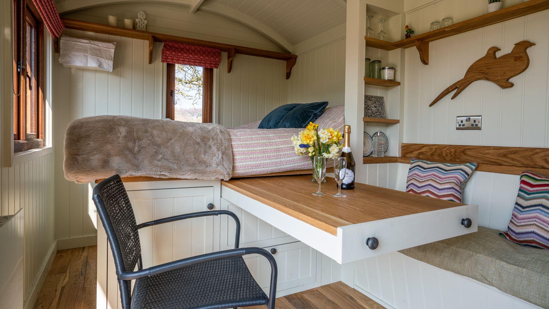 Dining area-bedroom, Tudor Oak, Bolthole Retreats