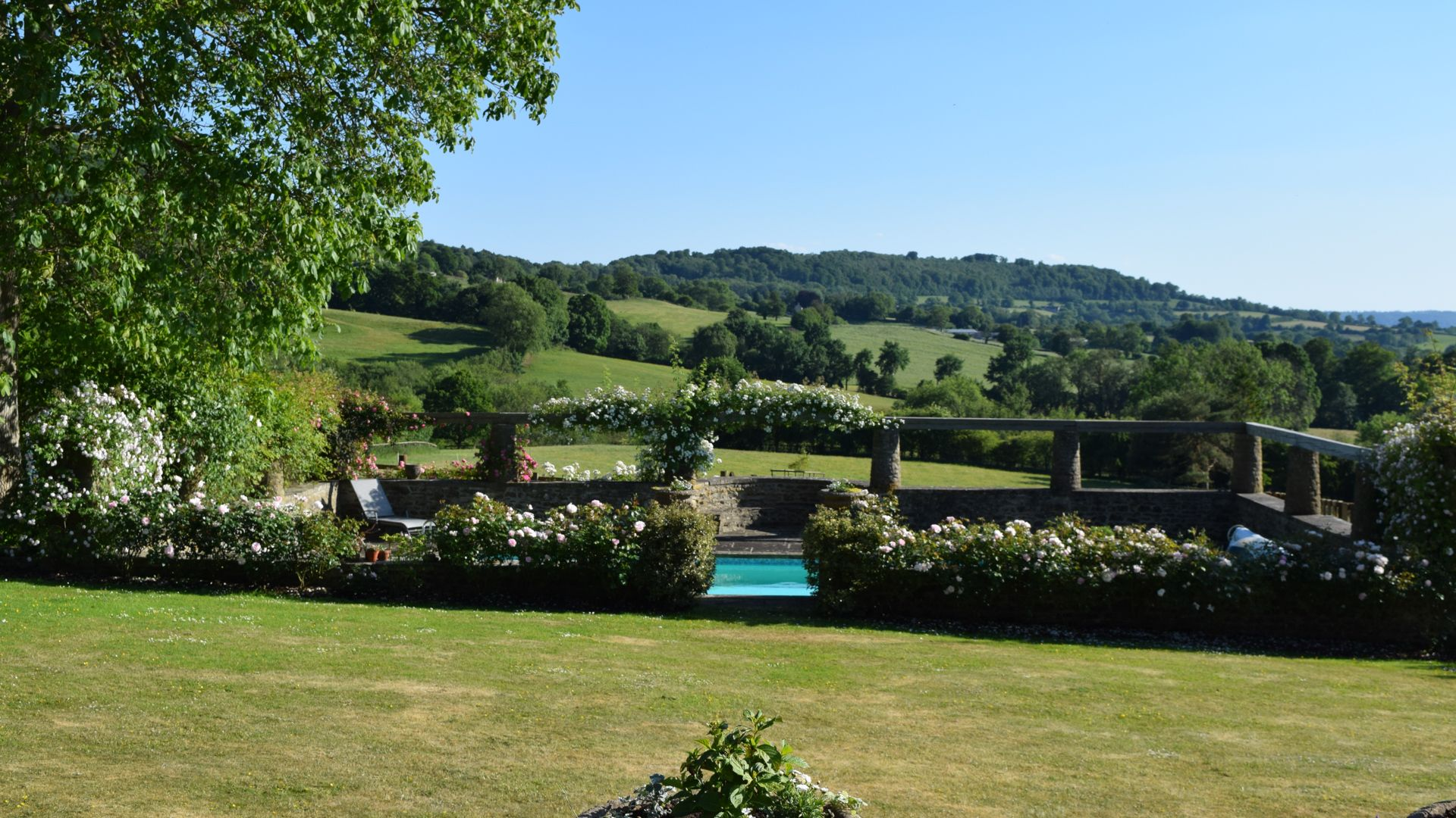 View and pool, Under the Walnut Tree, Bolthole Retreats