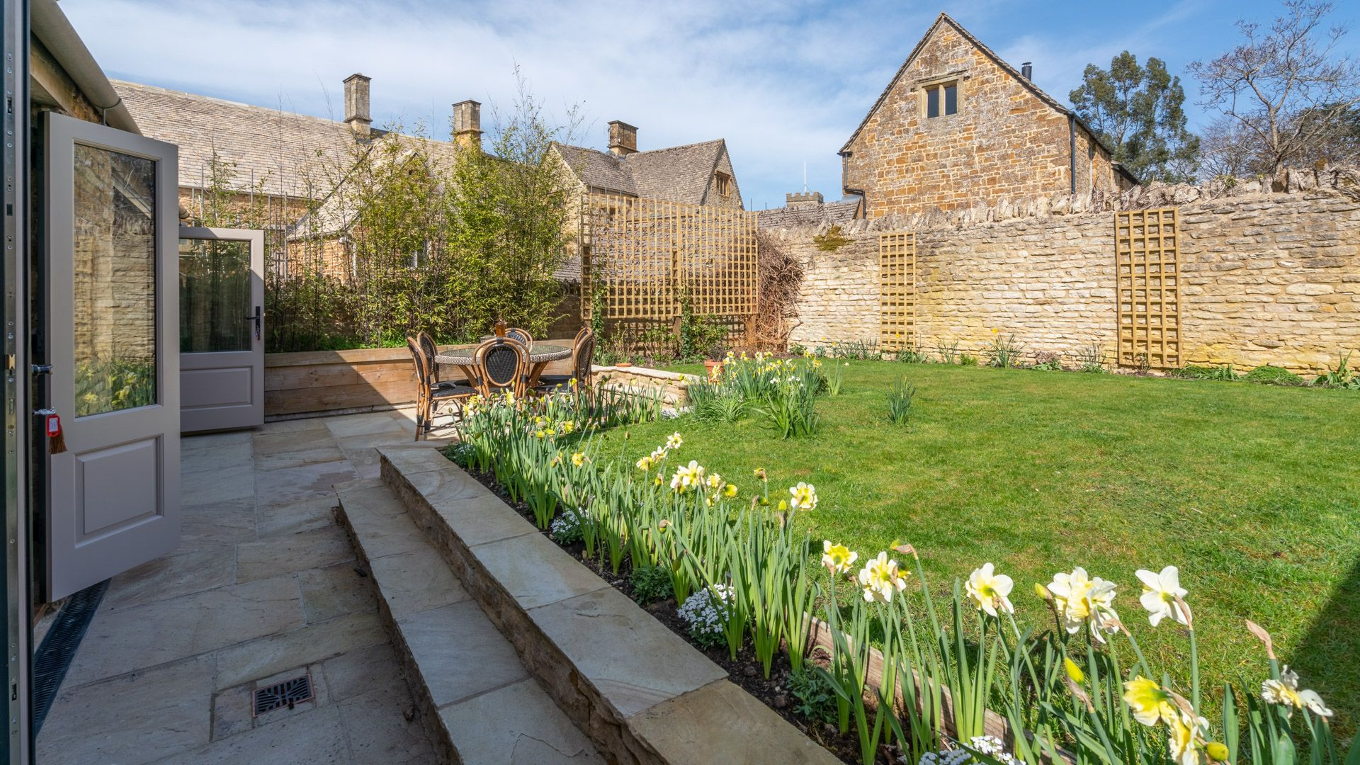 Rear garden, Quail House, Bolthole Retreats