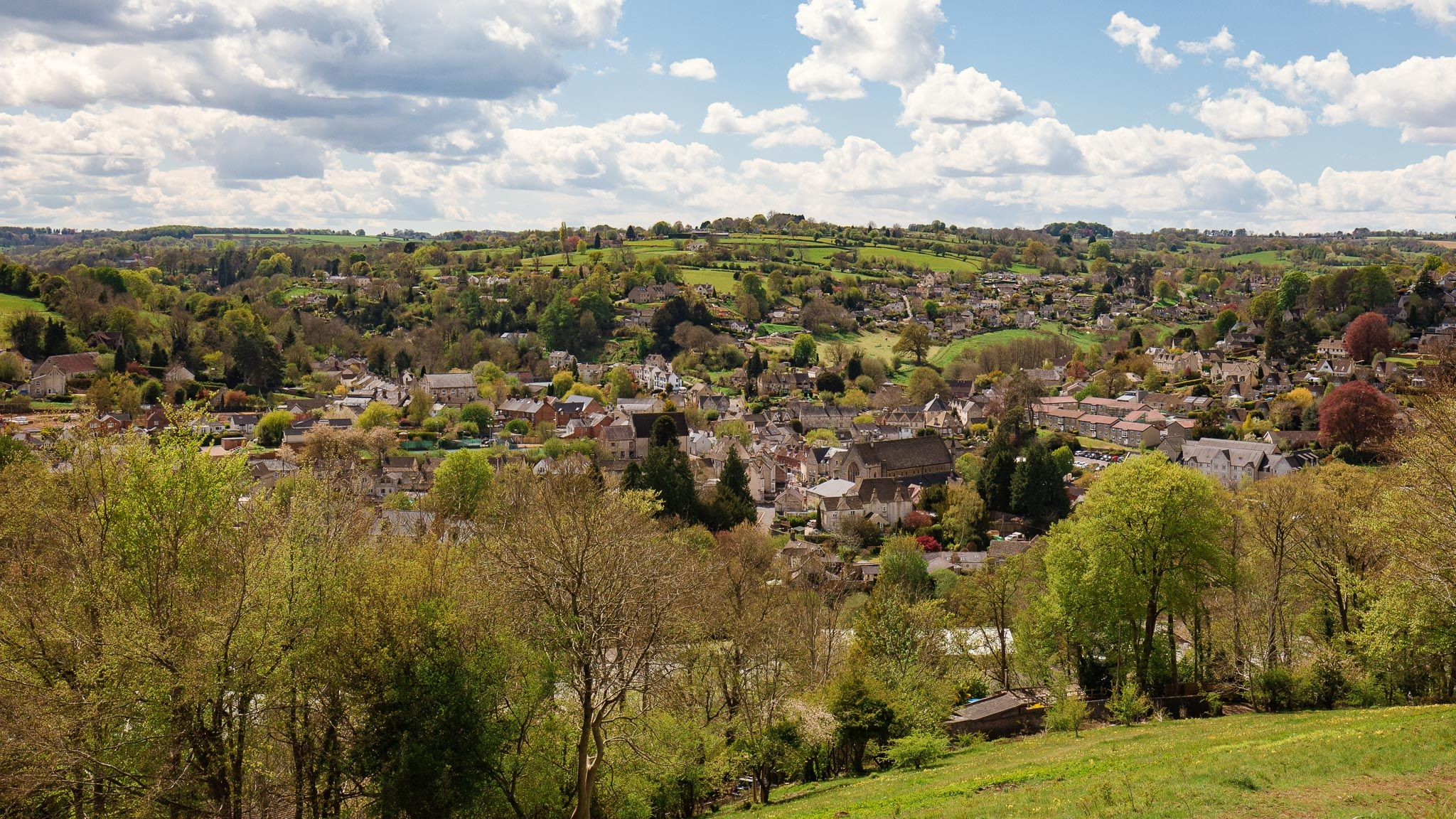 View to Nailsworth, Walkley Wood Cottage, Bolthole Retreats