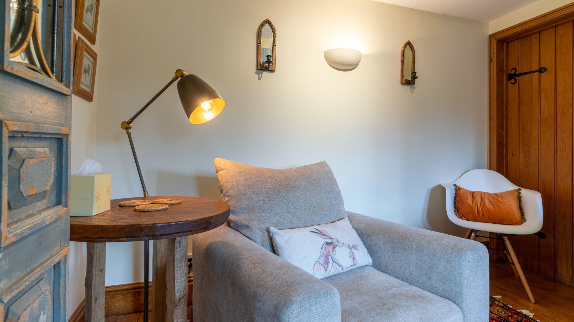 Reading area, Old Chapel, Bolthole Retreats