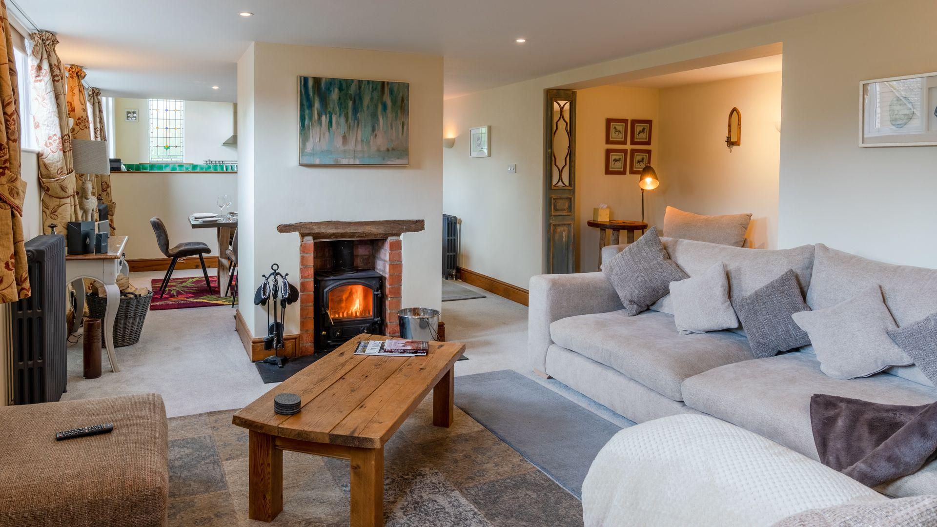 Living Room, Old Chapel, Bolthole Retreats