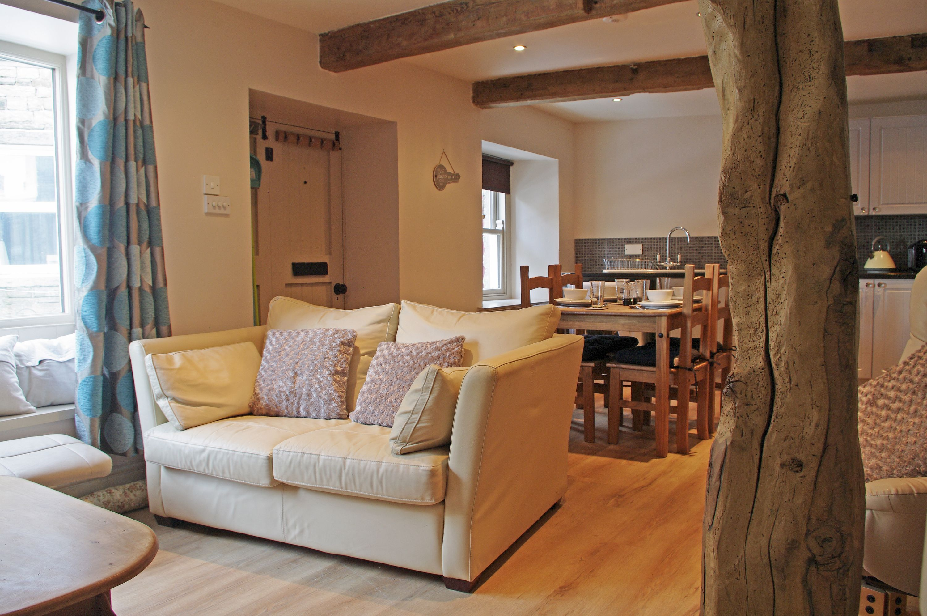 Lounge area at Cartwheel Cottage in Hawes, Wensleydale in the Yorkshire Dales
