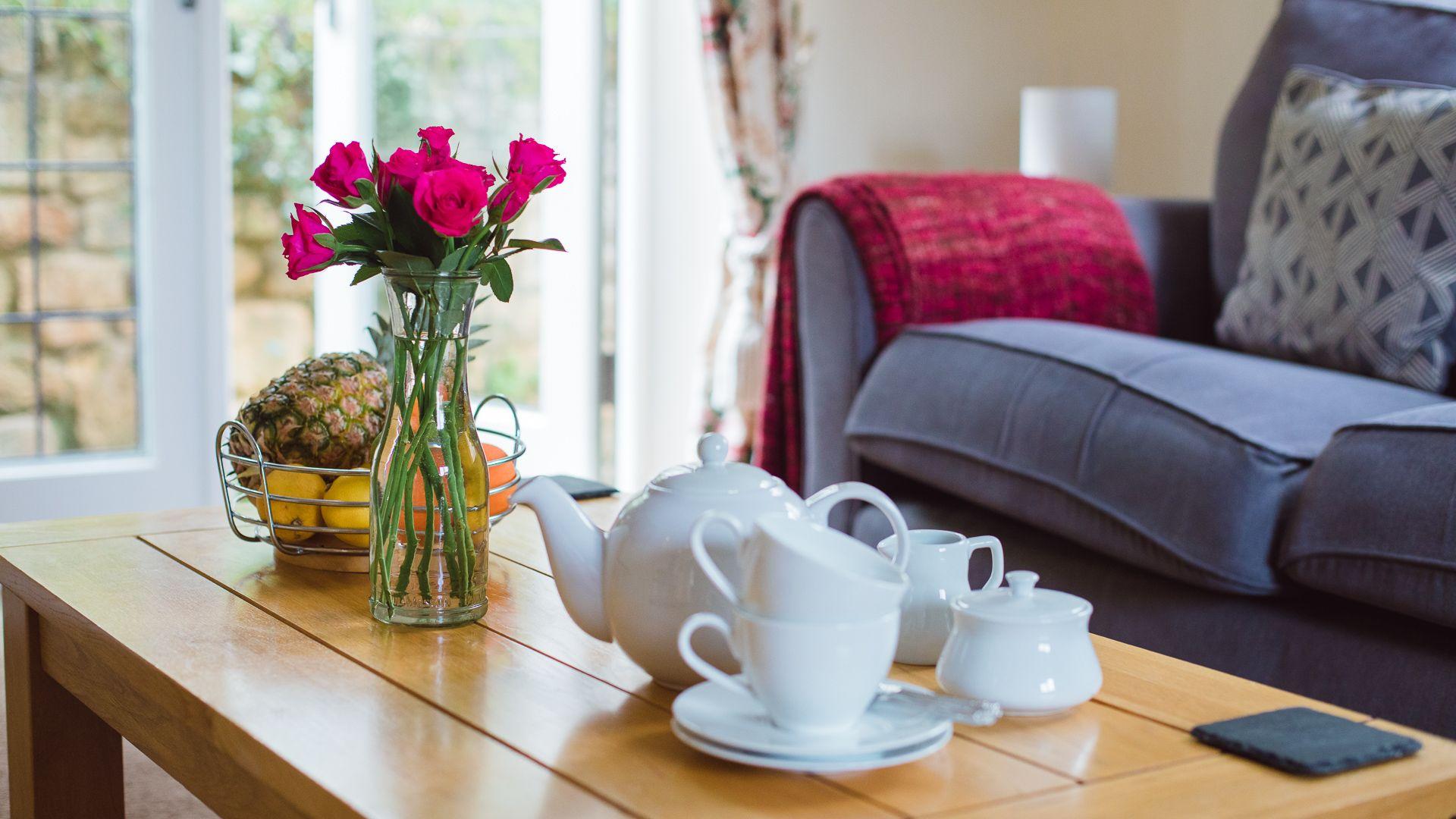 Living room, Emma Dent Cottage at Sudeley Castle, Bolthole Retreats