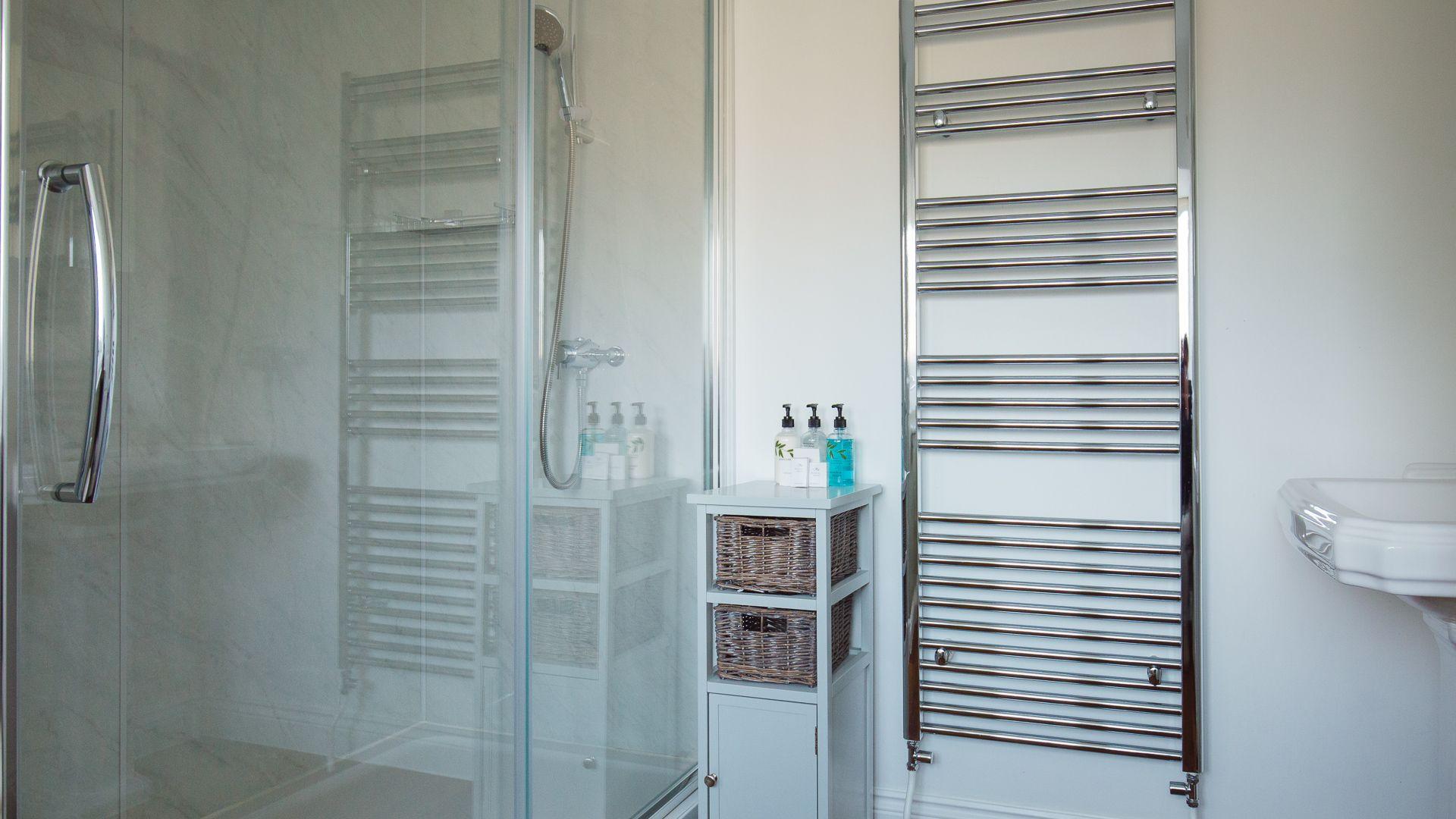 Bedroom Two Ensuite Shower Room,  Emma Dent Cottage at Sudeley Castle, Bolthole Retreats