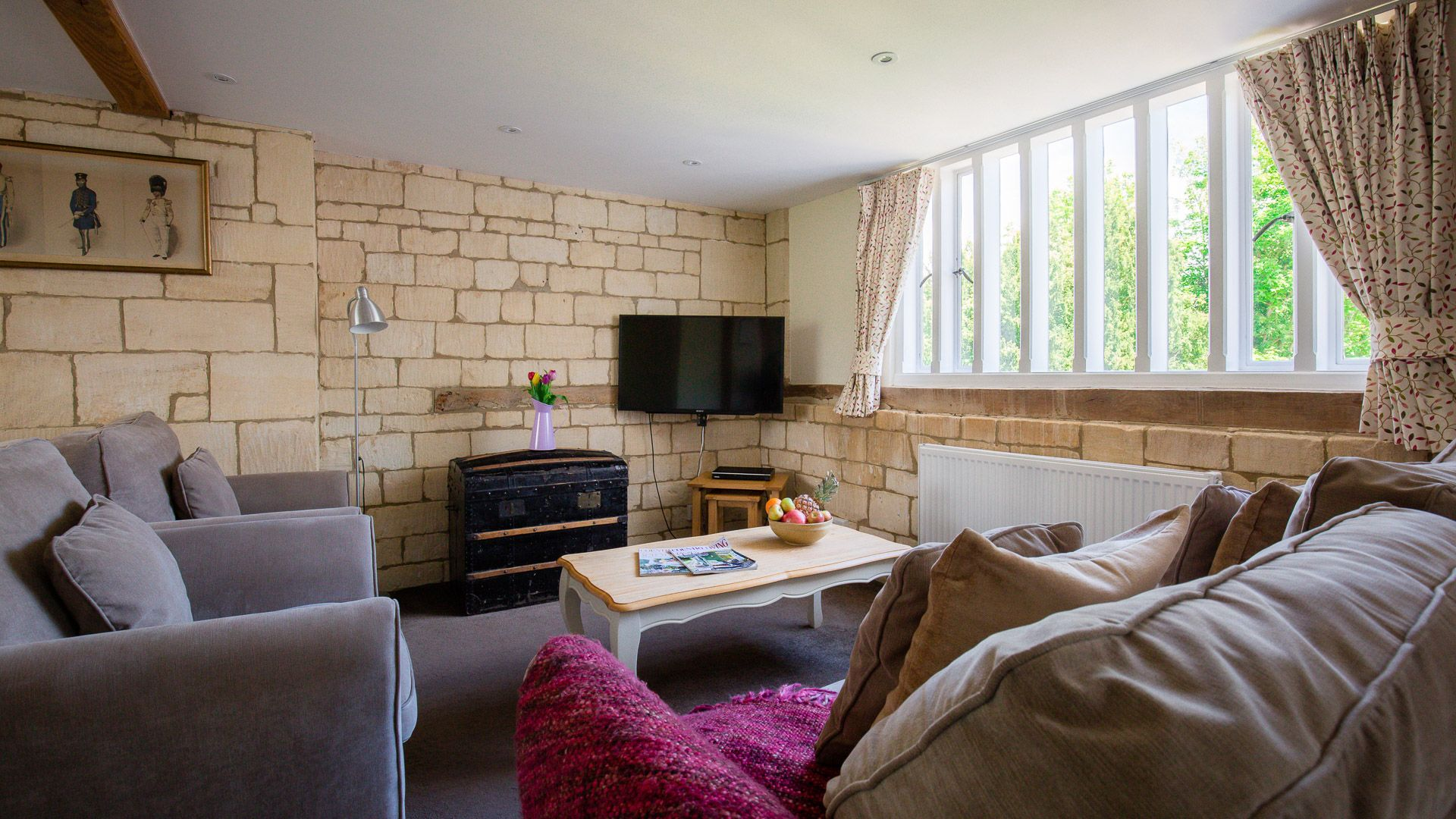 Living Area, Oliver Cromwell at Sudeley Castle, Bolthole Retreats