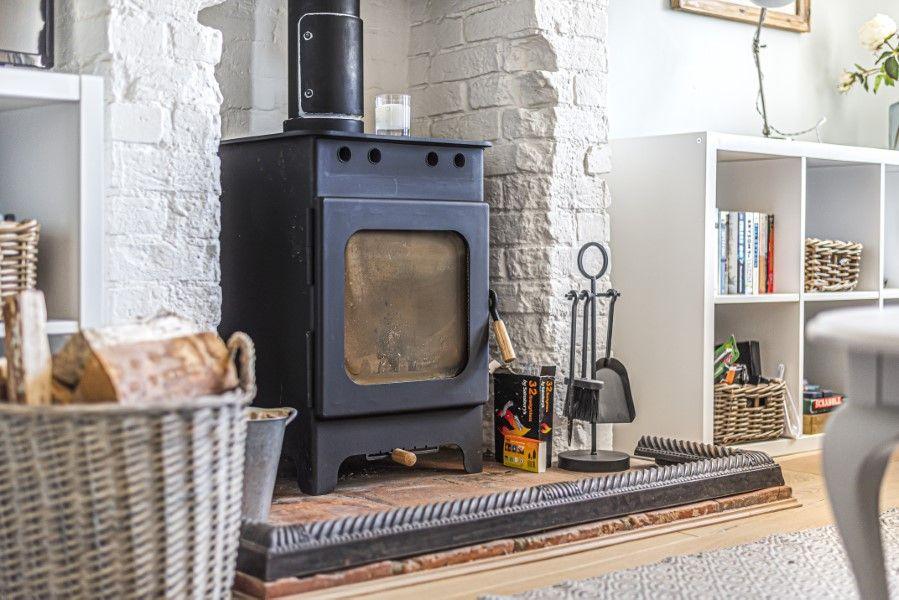 Avocet Cottage NC | Wood burner