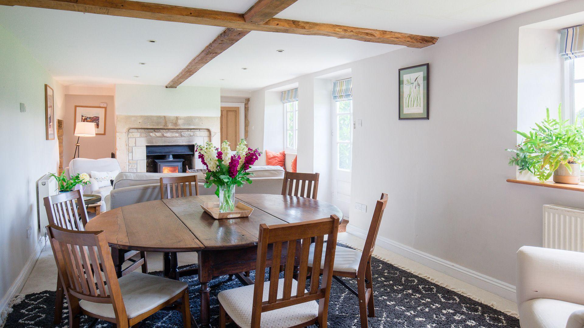 Living-Dining Room, Corn Close, Bolthole Retreats
