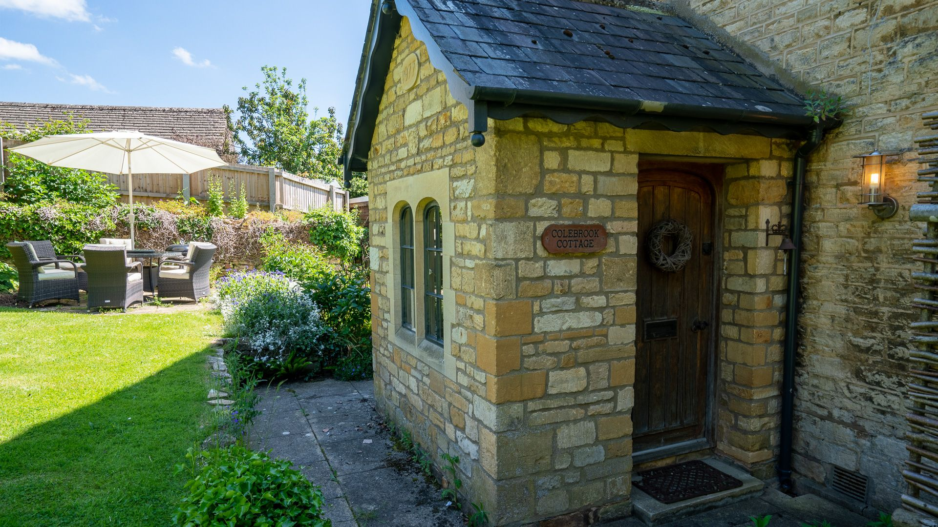 Garden, Colebrook Cottage, Bolthole Retreats
