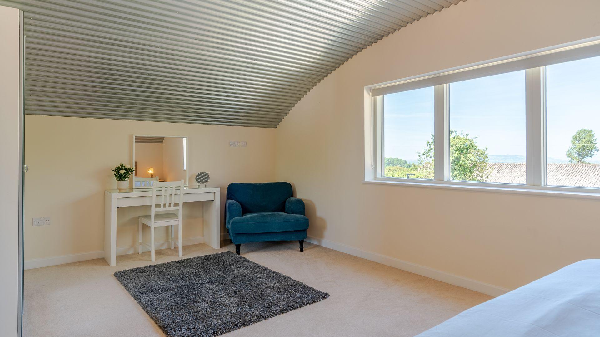 Bedroom Three, Ledge View, Bolthole Retreats