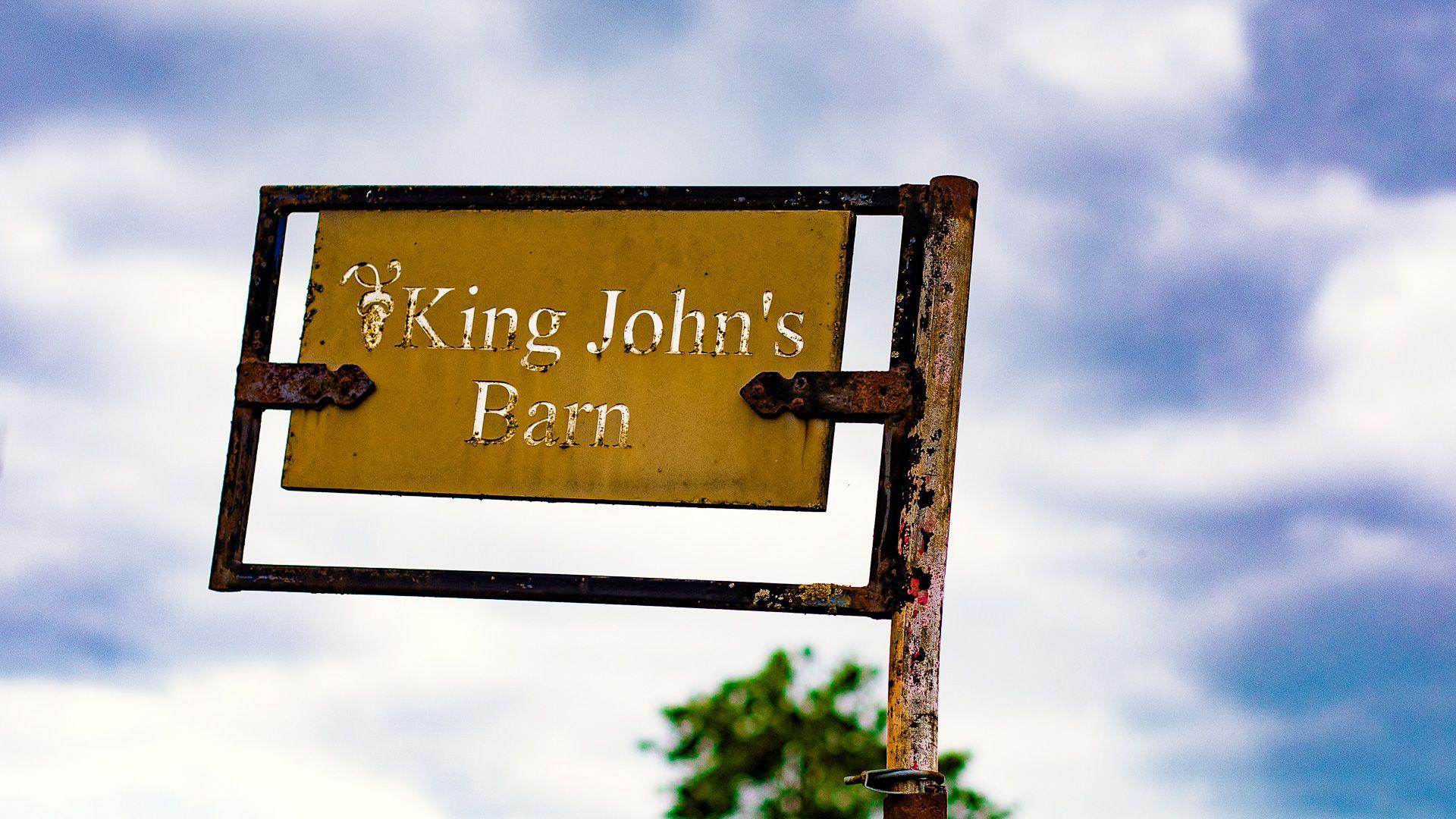 Signage, King John's Barn, Bolthole Retreats
