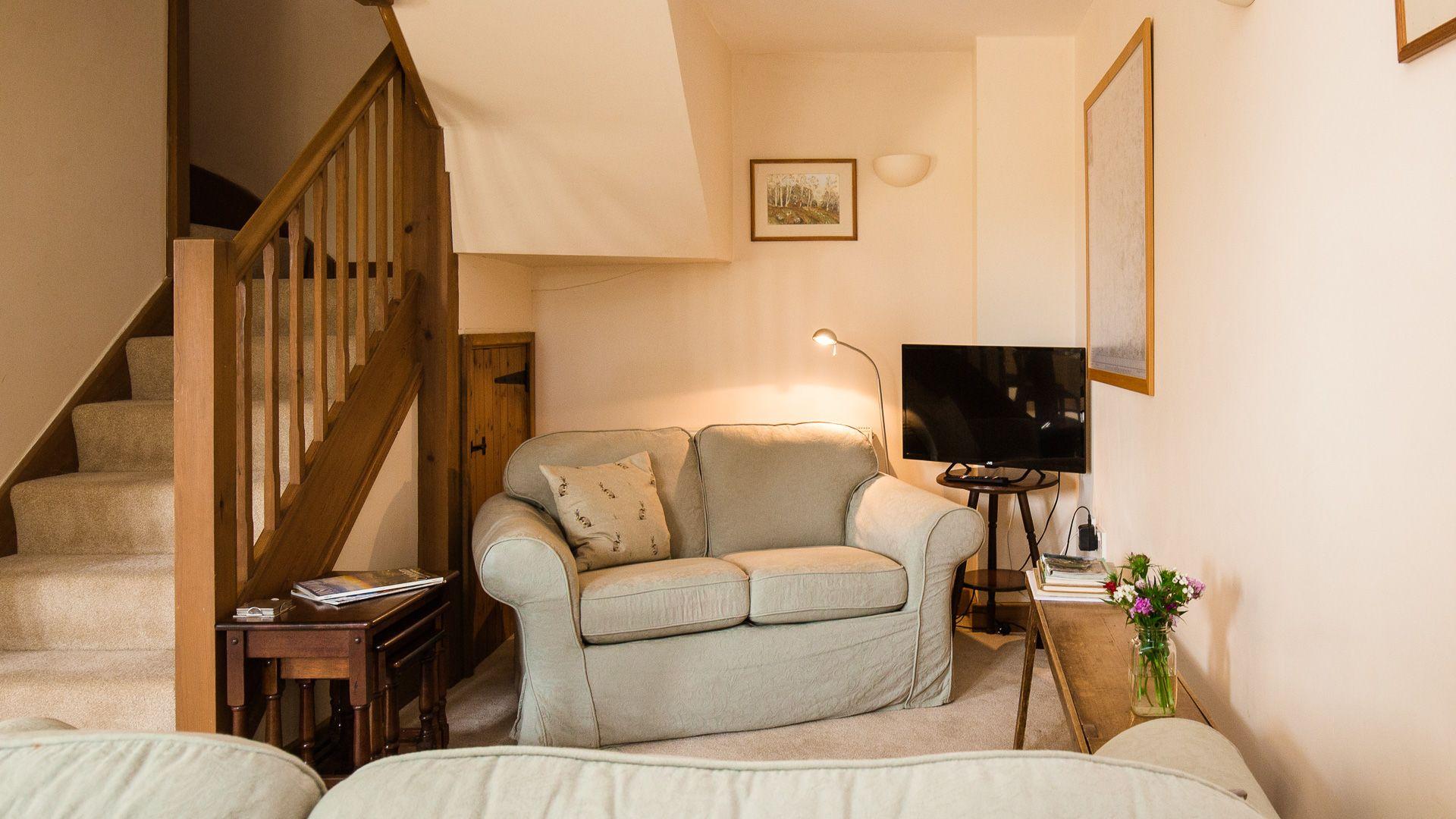 Living Area, Oak Tree Cottage, Bolthole Retreats