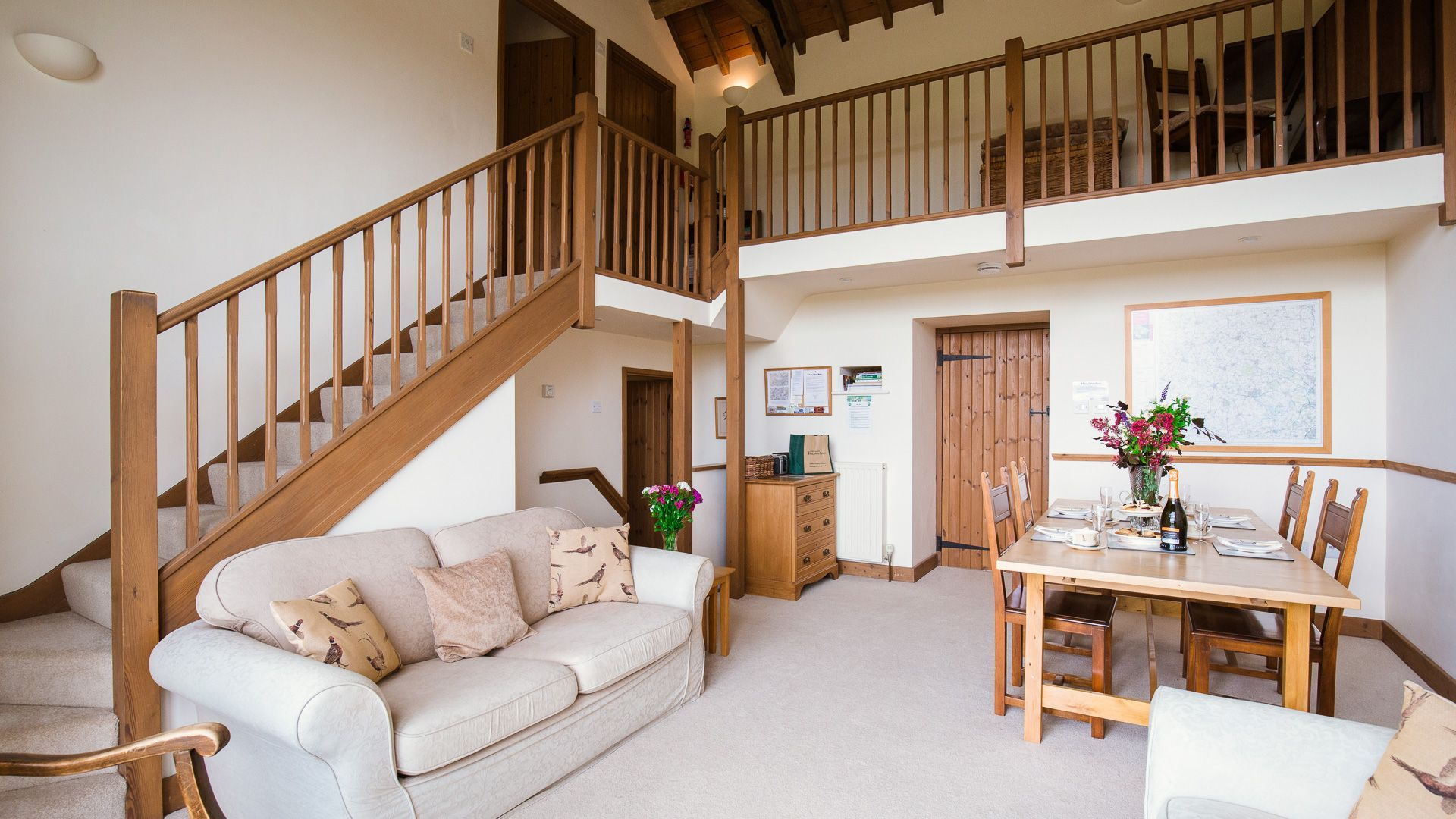 Open plan living-dining room, The Gallery, Bolthole Retreats