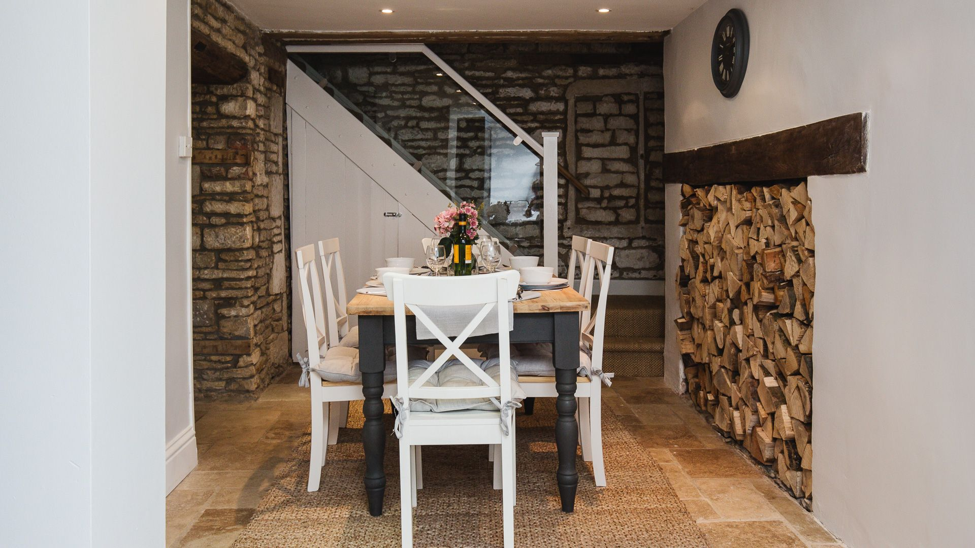 Dining Room, Field View, Bolthole Retreats