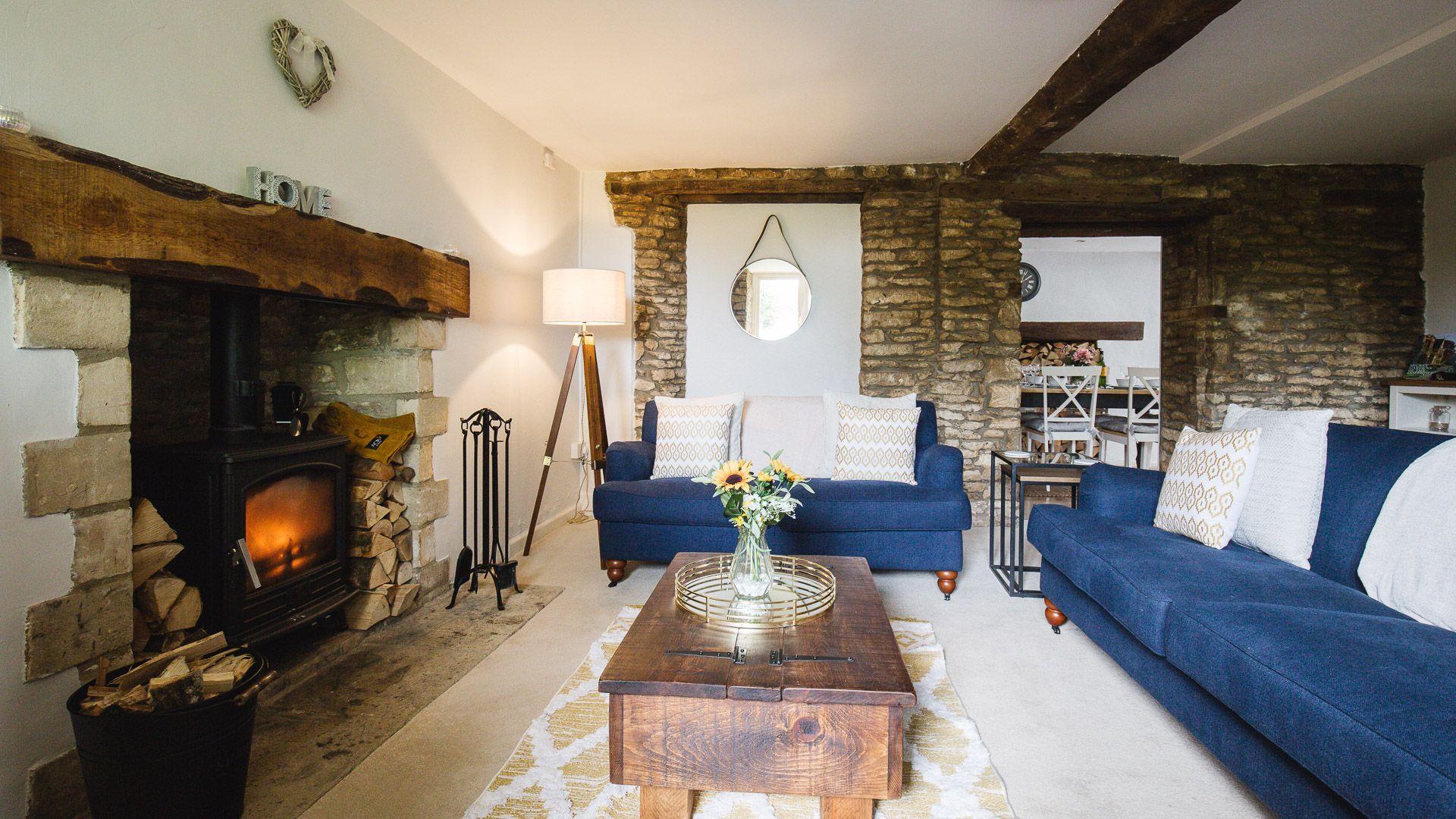 Living Room, Field View, Bolthole Retreats