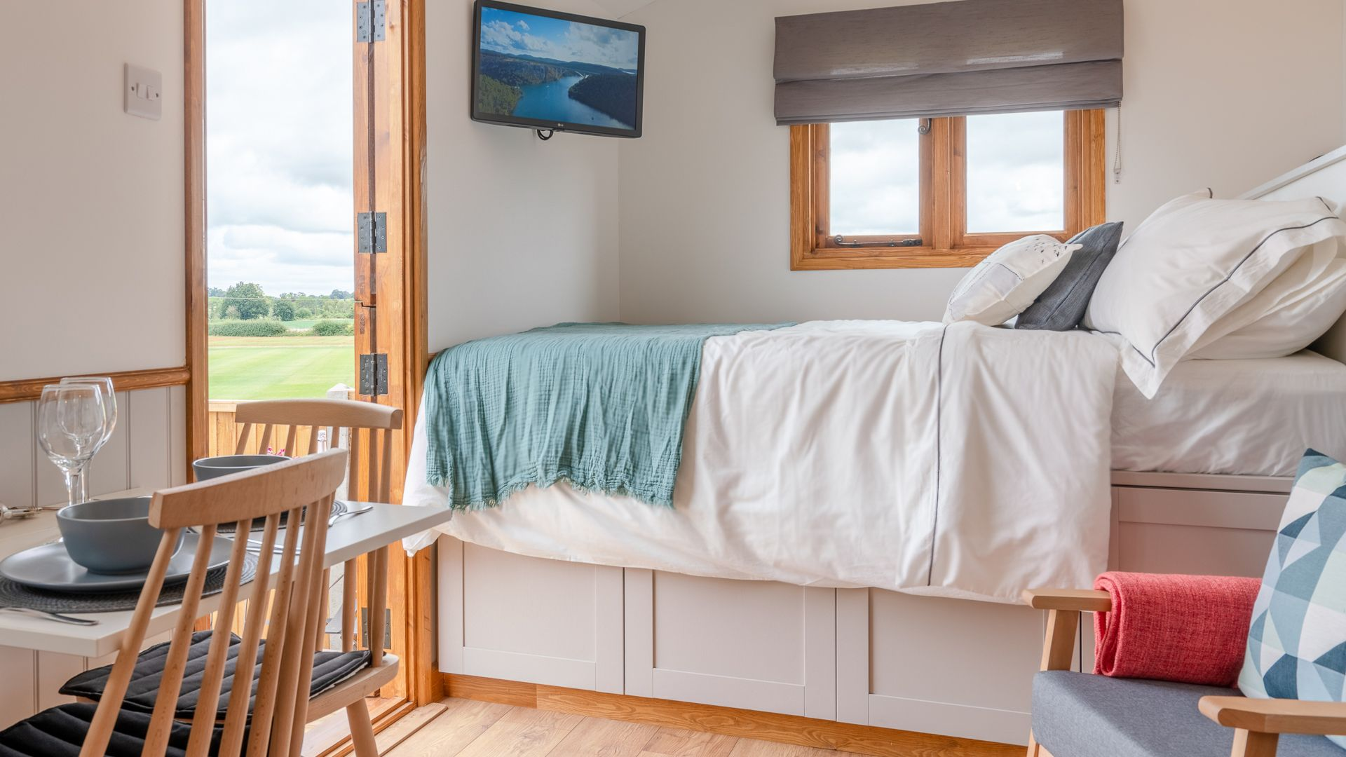 Sleeping Area, Outbak Shepherds Hut, Bolthole Retreats