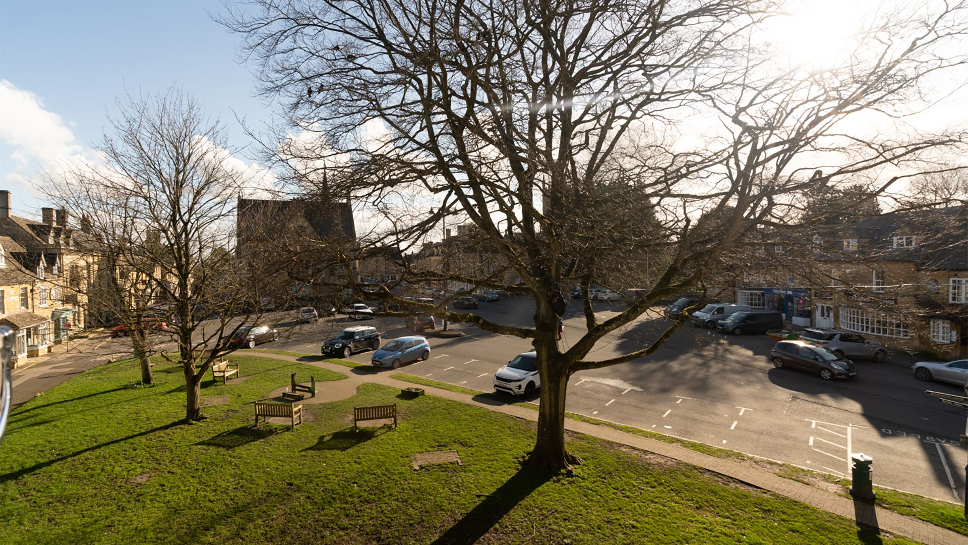 The Square from the living room, Stow-on-the-Wold, Little Elms, Bolthole Retreats