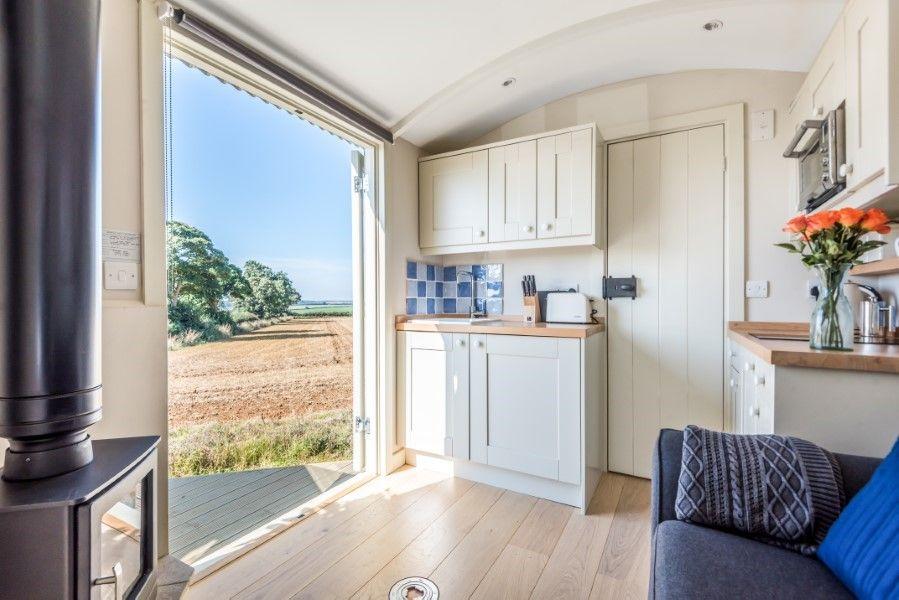 The Shepherd's Hut | Kitchen and views