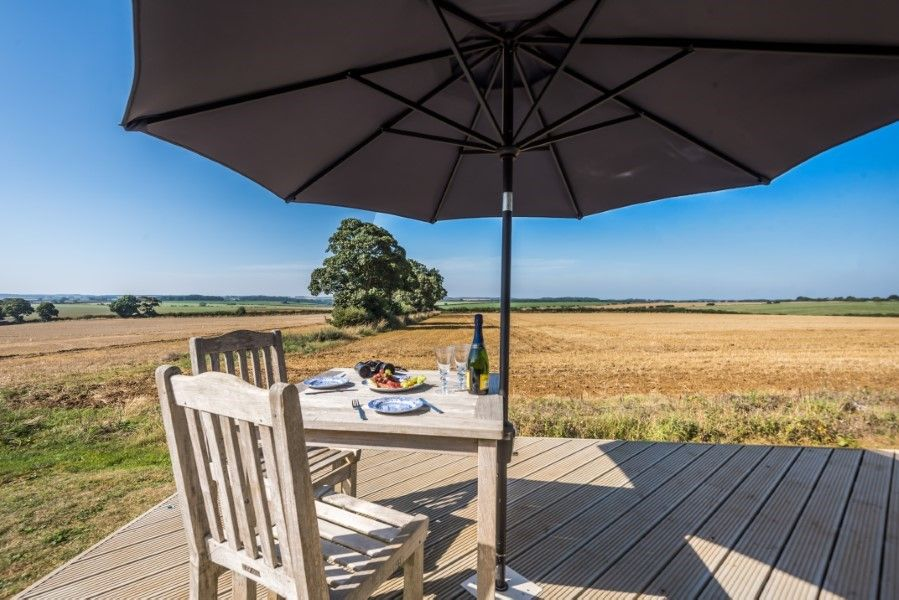 The Shepherd's Hut | Decking area and views