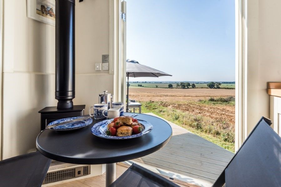 The Shepherd's Hut | Dining with a view