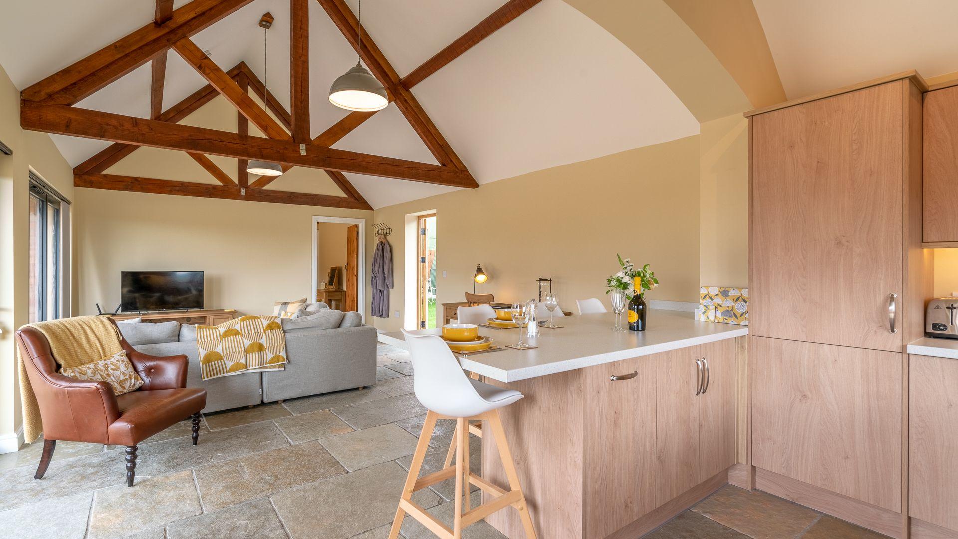 Open Plan Kitchen/Living Area, Swifts Retreat, Bolthole Retreats