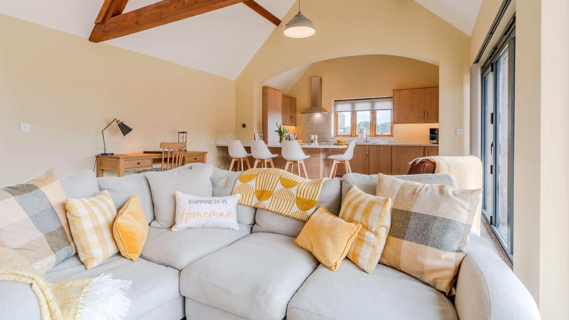 Living Area, Swifts Retreat, Bolthole Retreats