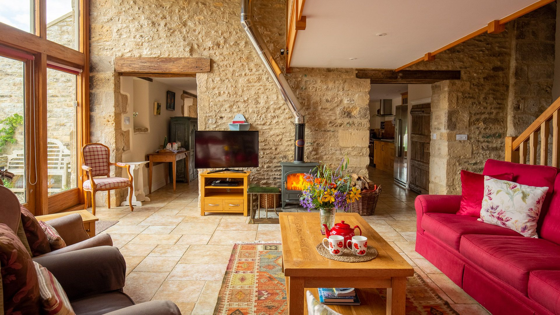 Living room, Tom's Barn,  Bolthole Retreats