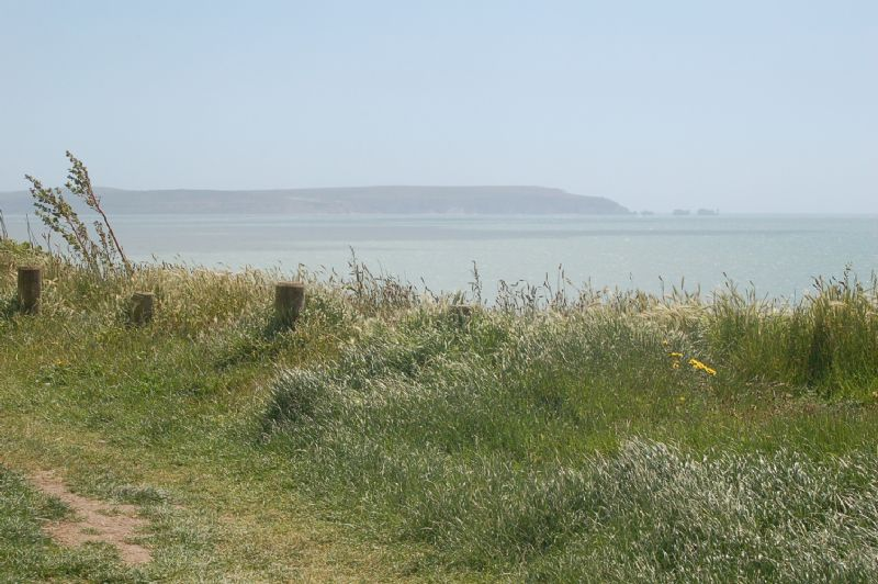 Views of The Isle of Wight from Barton-on-Sea