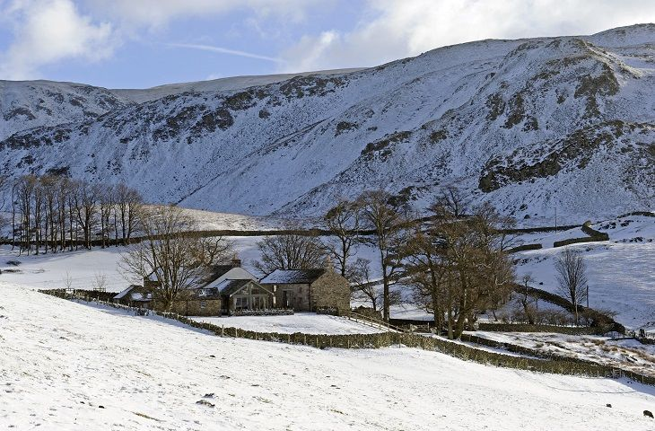 Hause Hall Farm, Cruik Barn & The Stables in the snow