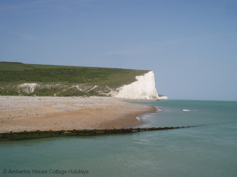 Large Image - Seven Sisters cliffs from the beach at Cuckmere Haven