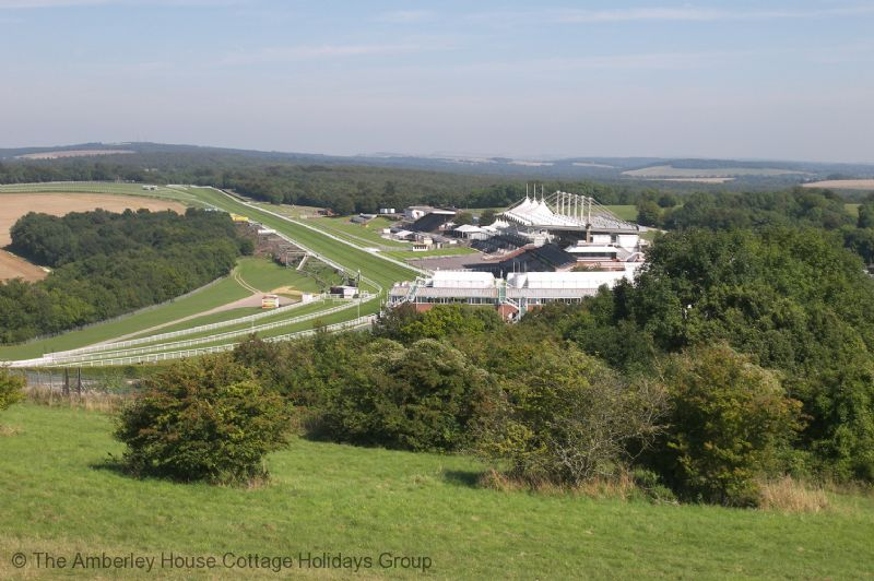 Large Image - Goodwood racecourse from Trundle Hill on the South Downs