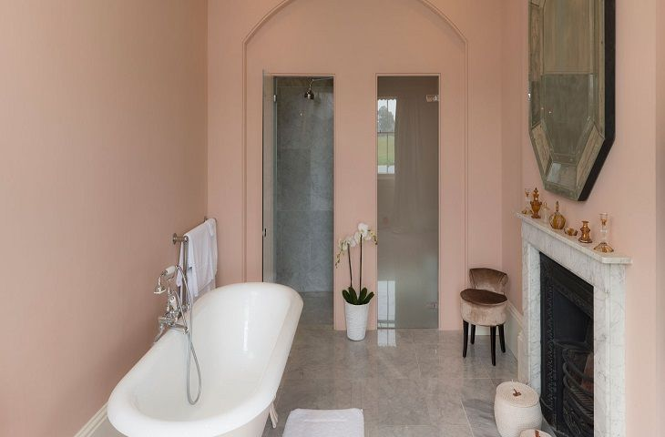 First floor:  One of the twelve sumptuous bathrooms