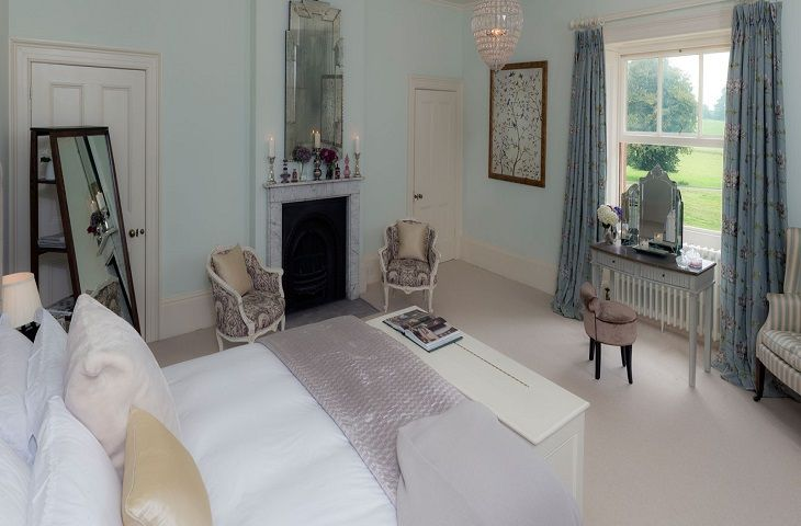 First floor:  One of the twelve elegant bedrooms
