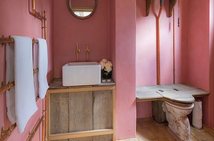 First floor:  En-suite bathroom, a fine example of this superb restoration