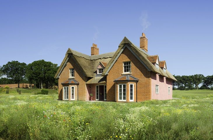Once the Home Farm to Sibton Park and without doubt the oldest building on the estate, the Farmhouse has been faithfully restored and extended using Suffolk materials to create an unusual family homestead