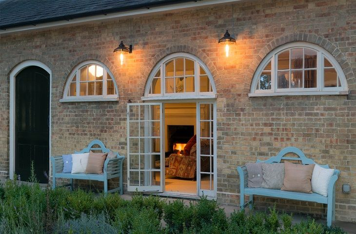 The Clockhouse:  Many rooms have French windows onto the central courtyard