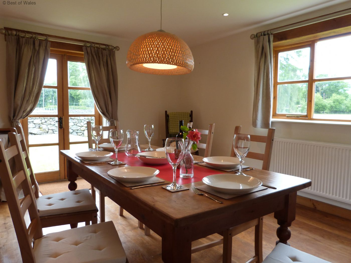 Dining Sets Tuscany Solid Wood Large Dining Set Table 6 Chairs: The Perfect Cottage For Your Walking Holidays In Wales