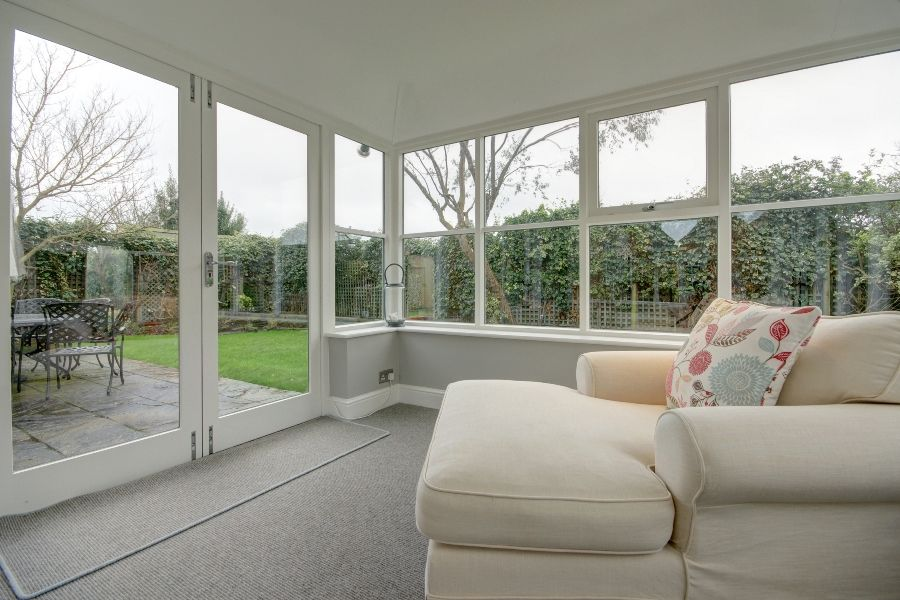 Creake Road Cottage | View from garden room
