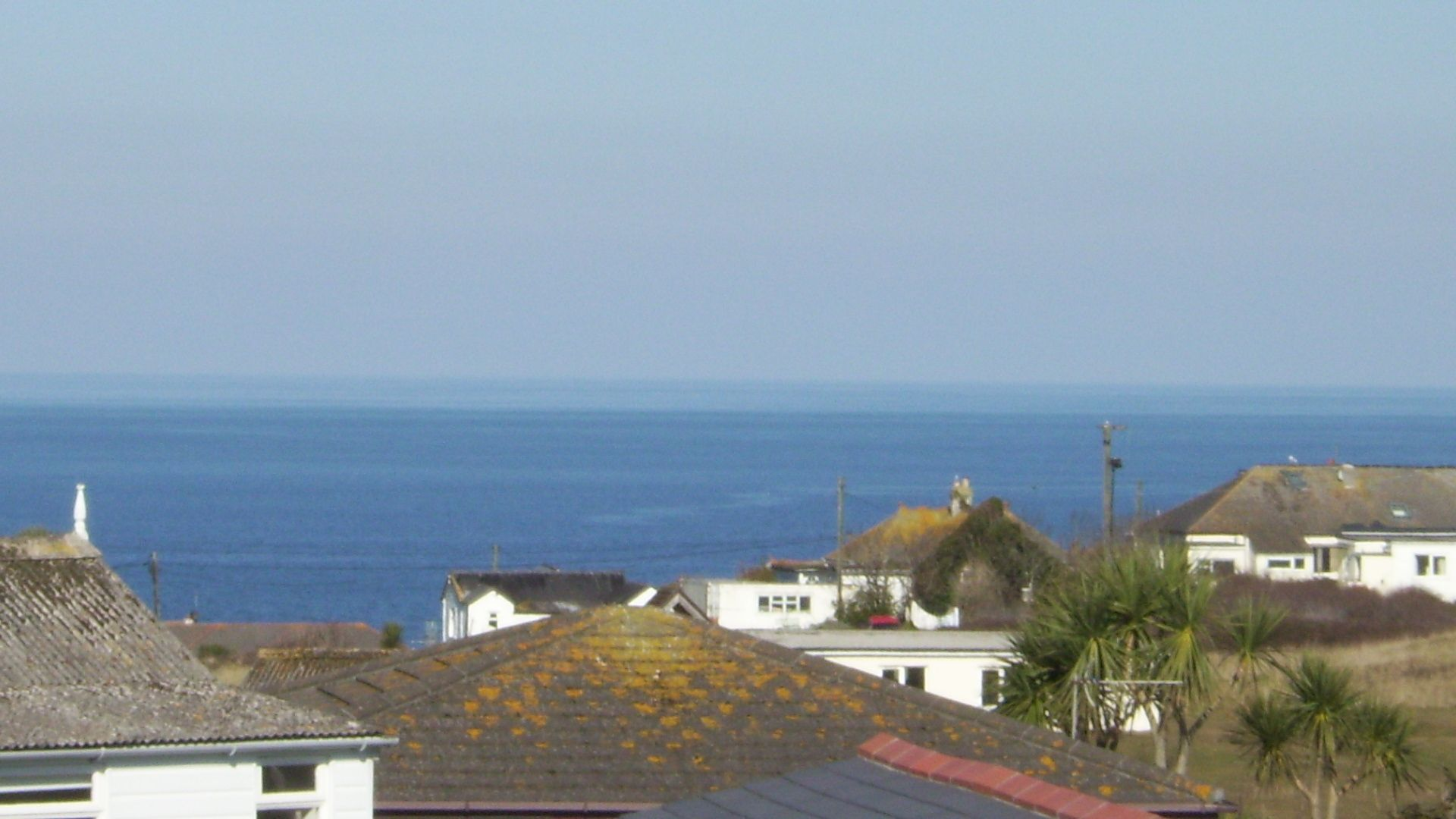 View across the park out to sea