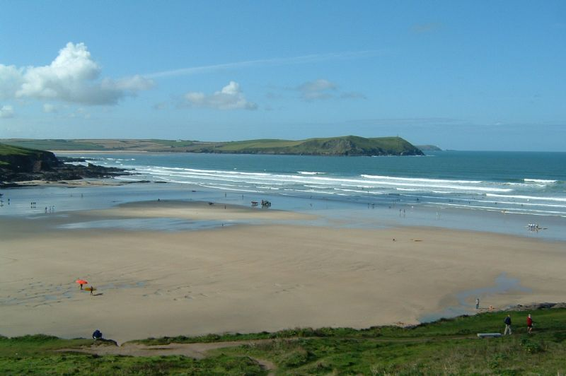 Polzeath at low tide