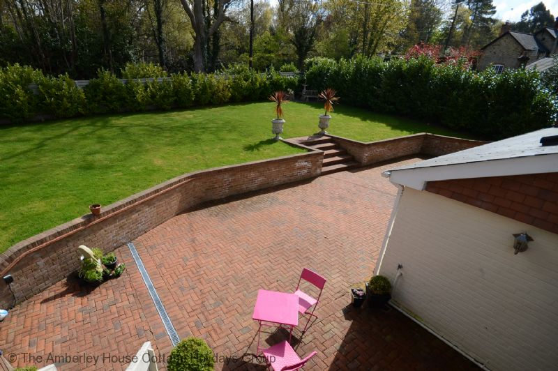 Large Image - The view down to the owners' garden