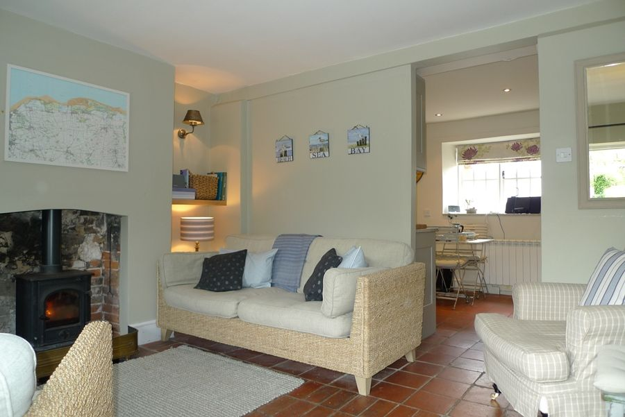 Pear Tree Cottage | Sitting room through to kitchen