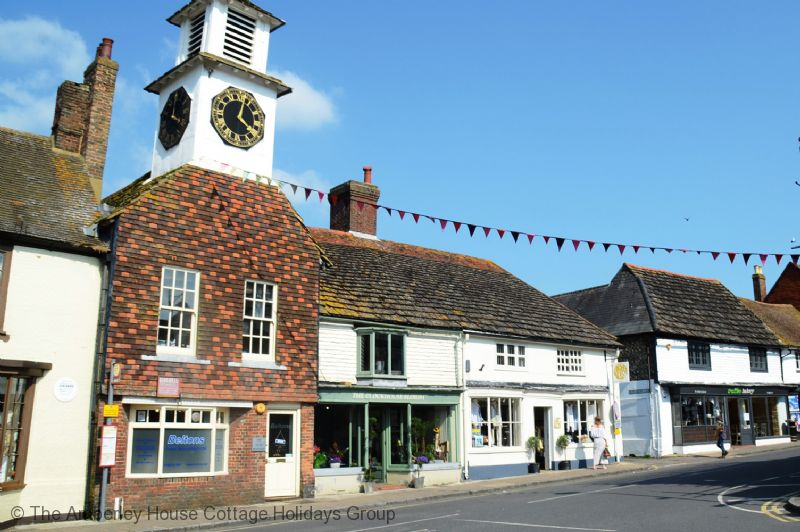Large Image - Steyning clock tower and High Streeet