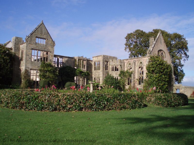Large Image - View of the ruins at Nymans Gardens