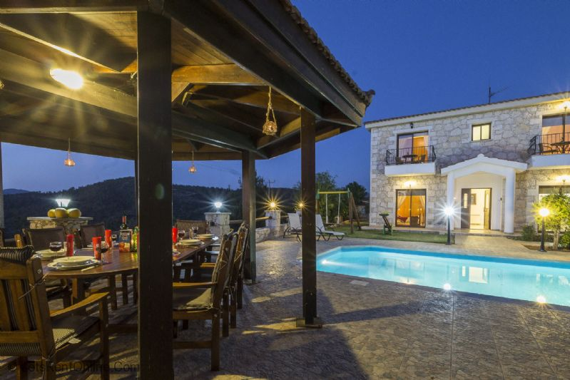 Lysos Profitis Elias Villa Villa at Night