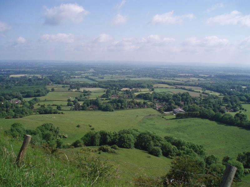 Large Image - Looking west from Ditchling Beacon