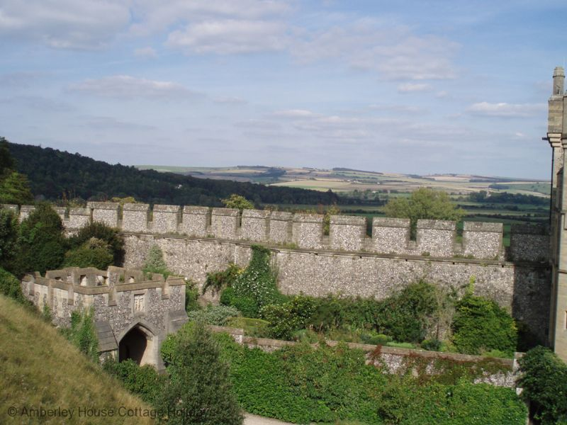 Large Image - Looking across the South Downs from Arundel Castle