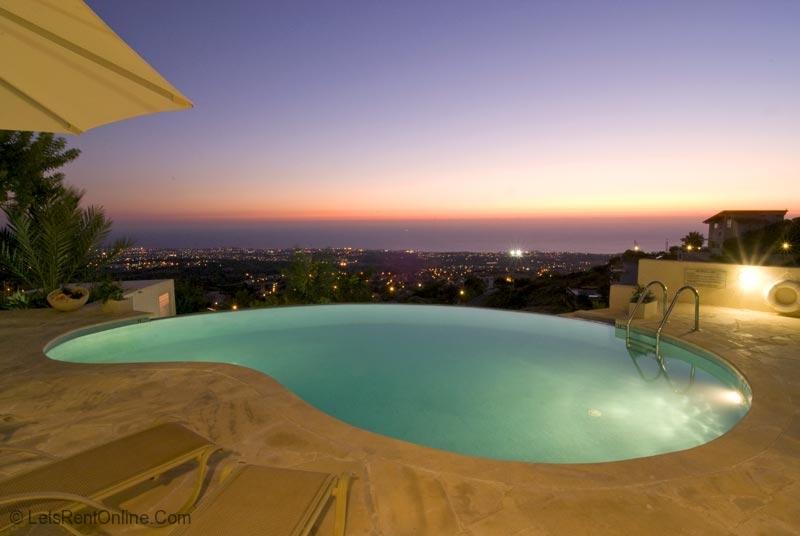 Tala Villa Serenity Private Pool at Night